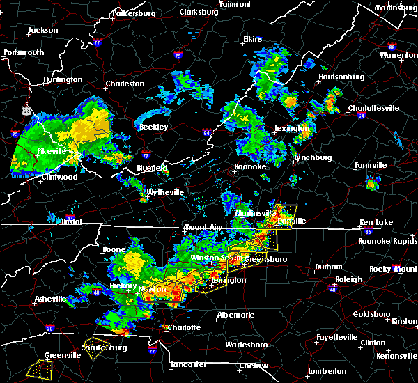 Radar Image for Severe Thunderstorms near Blairs, VA at 6/13/2017 4:56 PM EDT