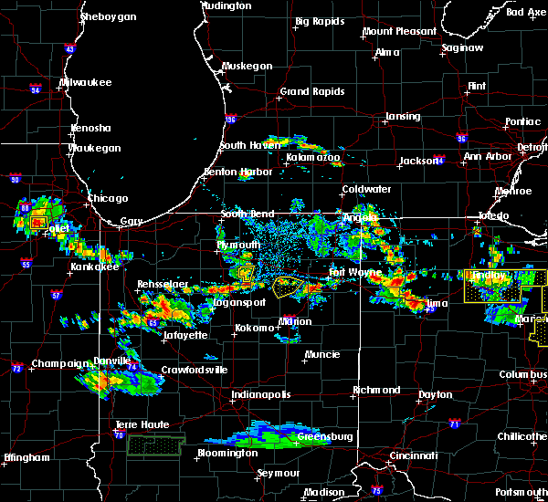 Radar Image for Severe Thunderstorms near South Whitley, IN at 6/13/2017 4:59 PM EDT