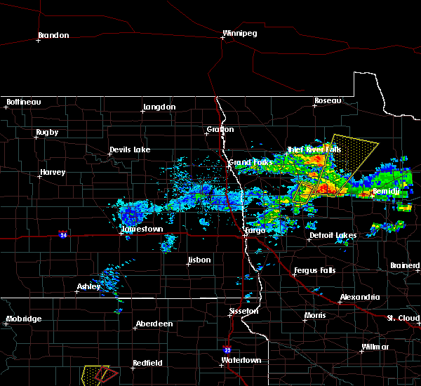 Radar Image for Severe Thunderstorms near Clearbrook, MN at 6/13/2017 4:03 PM CDT