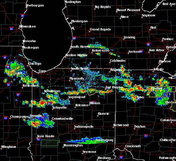Radar Image for Severe Thunderstorms near South Whitley, IN at 6/13/2017 5:20 PM EDT