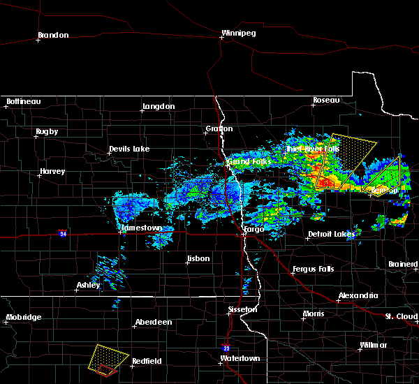 Radar Image for Severe Thunderstorms near Clearbrook, MN at 6/13/2017 4:20 PM CDT