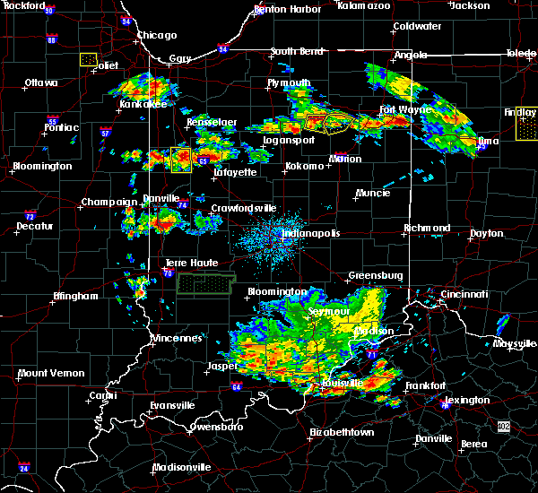 Radar Image for Severe Thunderstorms near Otterbein, IN at 6/13/2017 5:27 PM EDT
