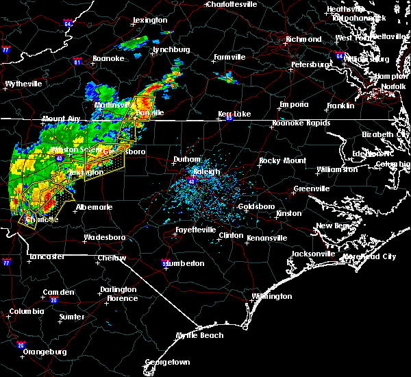 Radar Image for Severe Thunderstorms near Thomasville, NC at 6/13/2017 5:28 PM EDT