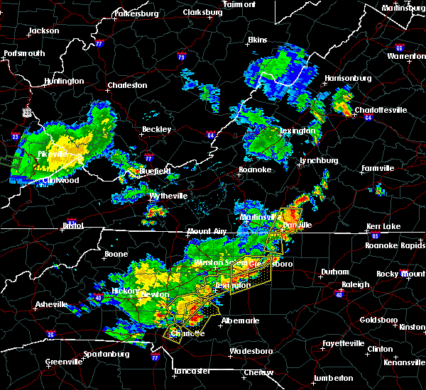 Radar Image for Severe Thunderstorms near Spencer, NC at 6/13/2017 5:27 PM EDT