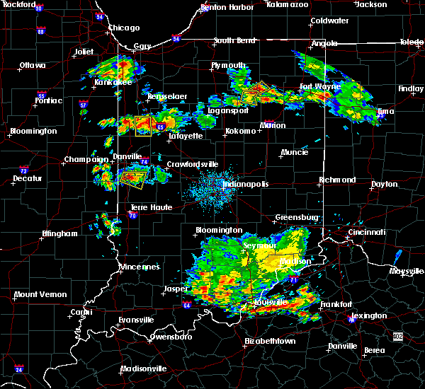 Radar Image for Severe Thunderstorms near Otterbein, IN at 6/13/2017 5:45 PM EDT