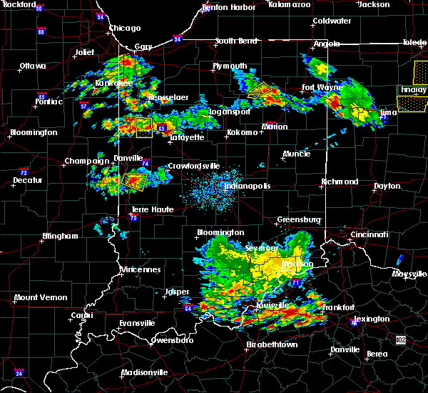 Radar Image for Severe Thunderstorms near Otterbein, IN at 6/13/2017 5:59 PM EDT
