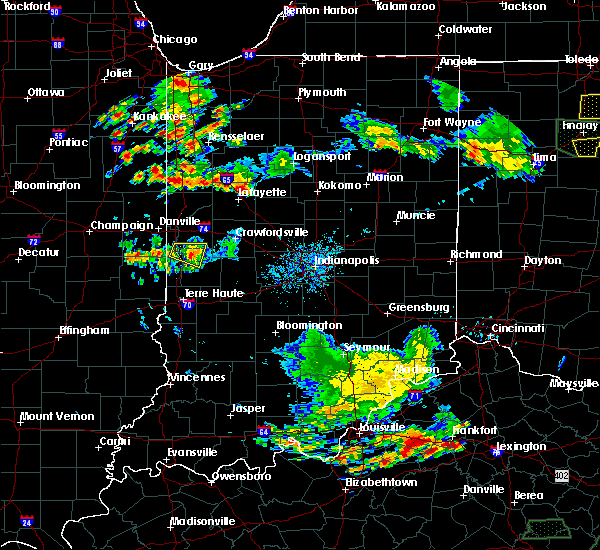 Radar Image for Severe Thunderstorms near Newport, IN at 6/13/2017 6:13 PM EDT