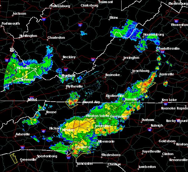 Radar Image for Severe Thunderstorms near Charlotte Court House, VA at 6/13/2017 6:24 PM EDT