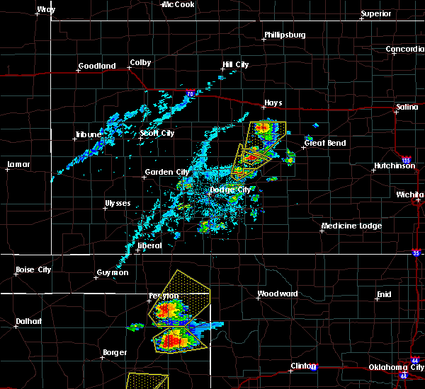 Radar Image for Severe Thunderstorms near La Crosse, KS at 6/13/2017 5:38 PM CDT