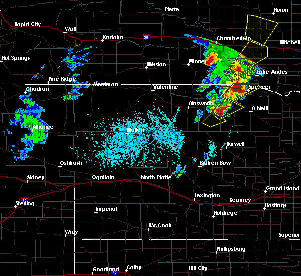 Radar Image for Severe Thunderstorms near Atkinson, NE at 6/13/2017 5:39 PM CDT