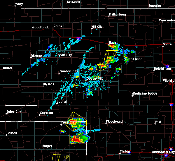 Radar Image for Severe Thunderstorms near Rush Center, KS at 6/13/2017 5:54 PM CDT
