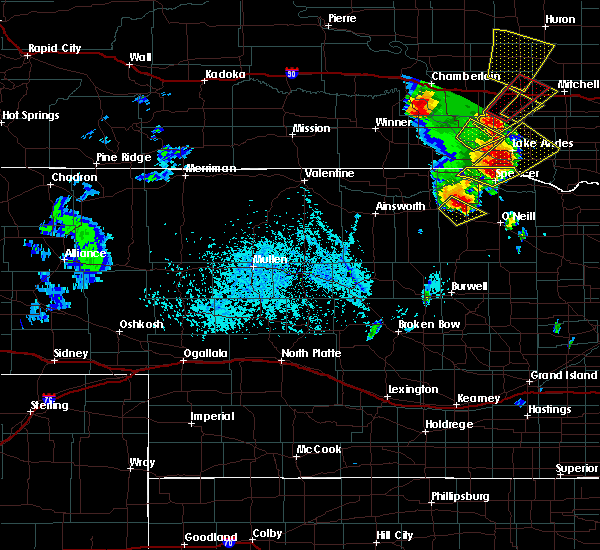 Radar Image for Severe Thunderstorms near Atkinson, NE at 6/13/2017 5:57 PM CDT