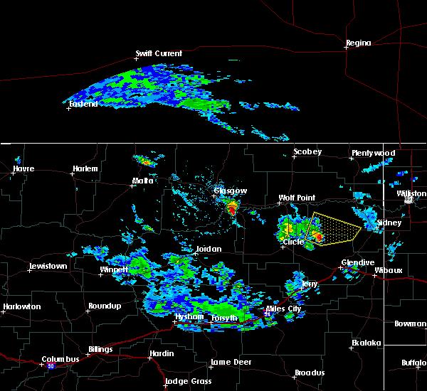 Radar Image for Severe Thunderstorms near Fox Lake, MT at 6/13/2017 5:21 PM MDT