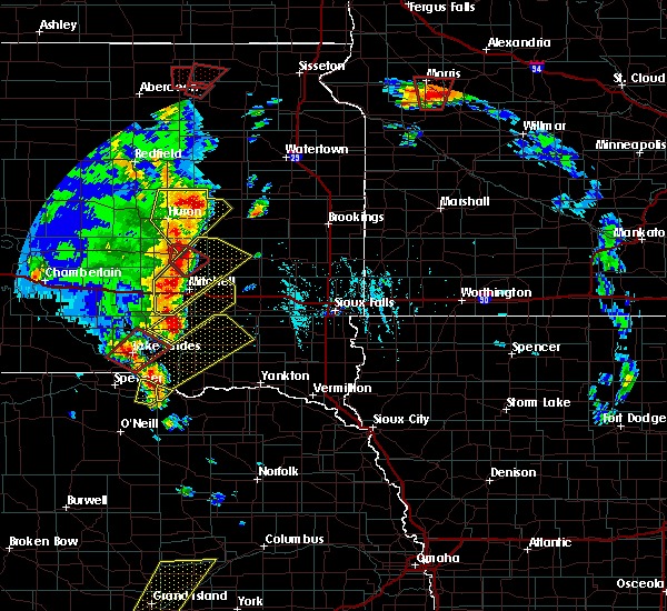 Radar Image for Severe Thunderstorms near Scotland, SD at 6/13/2017 6:35 PM CDT