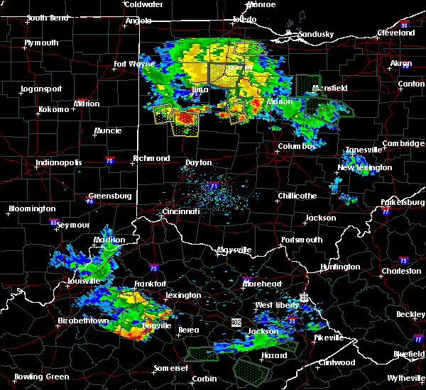 Radar Image for Severe Thunderstorms near Sidney, OH at 6/13/2017 7:45 PM EDT