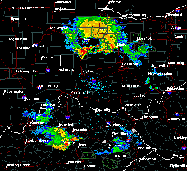 Radar Image for Severe Thunderstorms near Jackson Center, OH at 6/13/2017 7:55 PM EDT