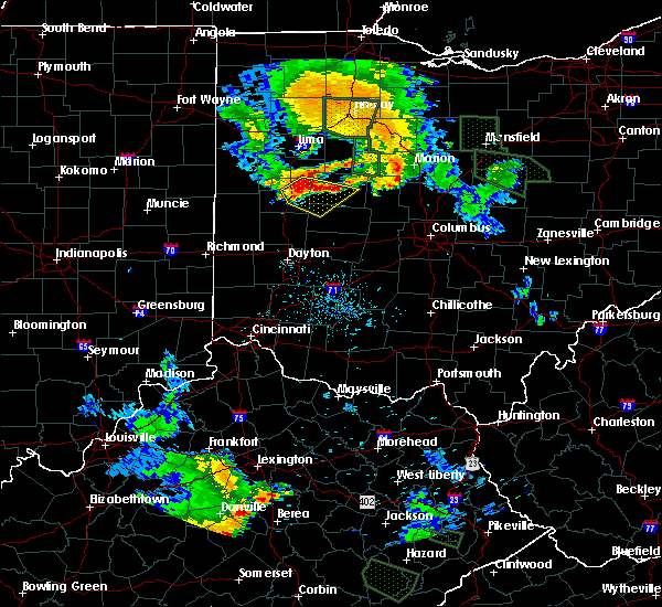 Radar Image for Severe Thunderstorms near Jackson Center, OH at 6/13/2017 8:02 PM EDT