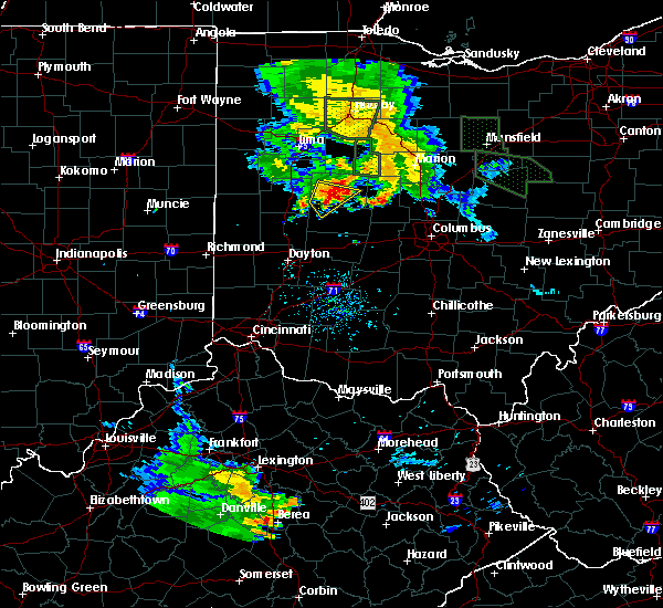 Radar Image for Severe Thunderstorms near Rosewood, OH at 6/13/2017 8:35 PM EDT