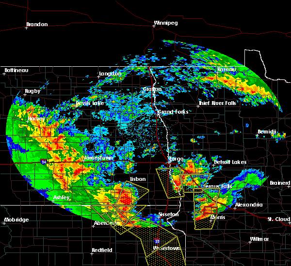 Radar Image for Severe Thunderstorms near Fergus Falls, MN at 6/13/2017 7:45 PM CDT