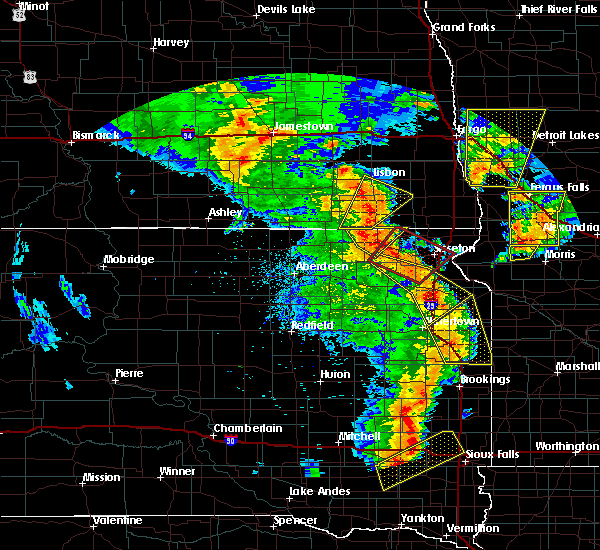 Radar Image for Severe Thunderstorms near Waubay, SD at 6/13/2017 8:02 PM CDT