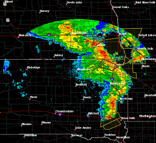Radar Image for Severe Thunderstorms near Wheaton, MN at 6/13/2017 8:19 PM CDT