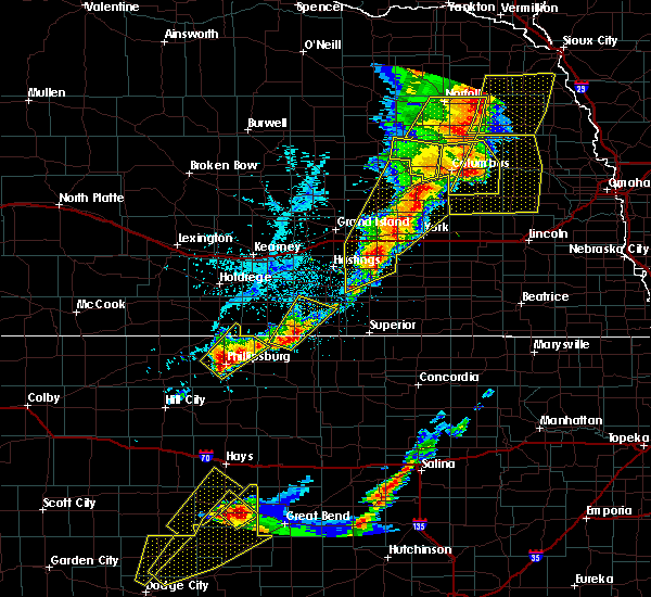 Radar Image for Severe Thunderstorms near Inland, NE at 6/13/2017 8:28 PM CDT