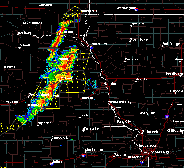 Radar Image for Severe Thunderstorms near Rising City, NE at 6/13/2017 8:35 PM CDT