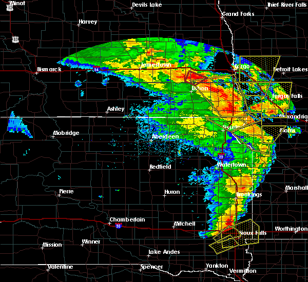 Radar Image for Severe Thunderstorms near Wheaton, MN at 6/13/2017 8:43 PM CDT