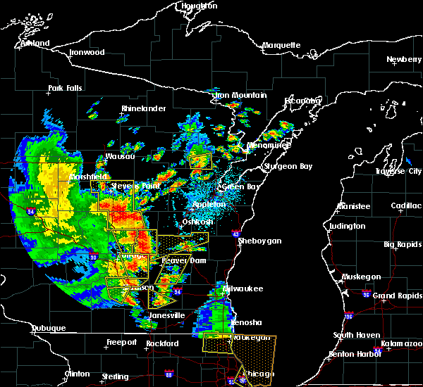 Radar Image for Severe Thunderstorms near Waupun, WI at 6/14/2017 2:53 PM CDT