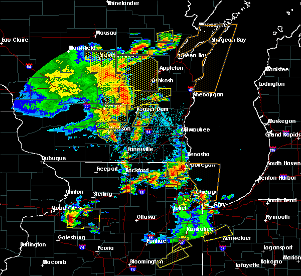 Radar Image for Severe Thunderstorms near DeForest, WI at 6/14/2017 2:56 PM CDT