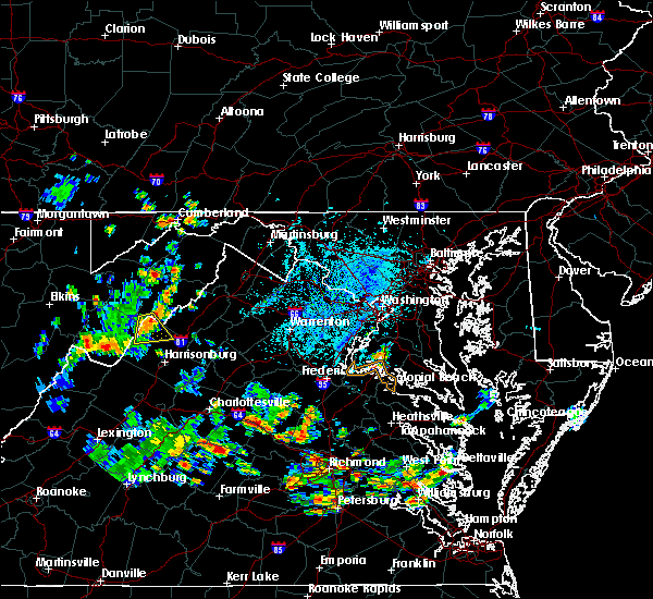 Radar Image for Severe Thunderstorms near Timberville, VA at 6/14/2017 4:24 PM EDT