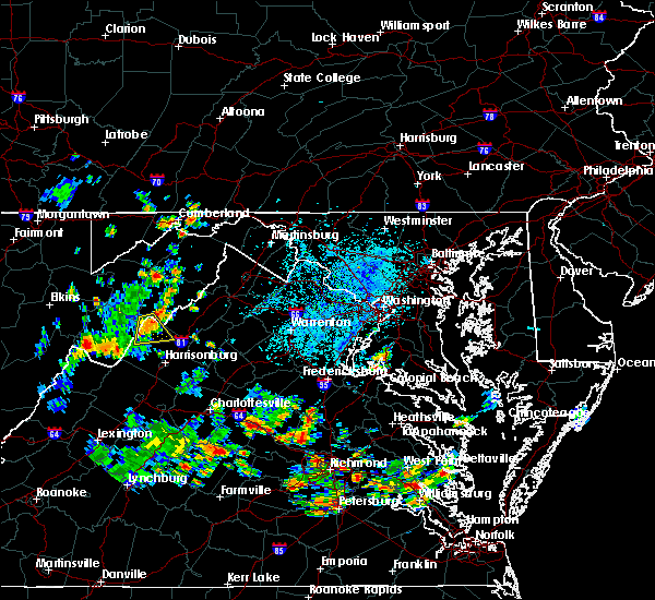 Radar Image for Severe Thunderstorms near Timberville, VA at 6/14/2017 4:25 PM EDT