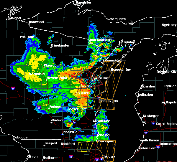 Radar Image for Severe Thunderstorms near Greenleaf, WI at 6/14/2017 3:56 PM CDT