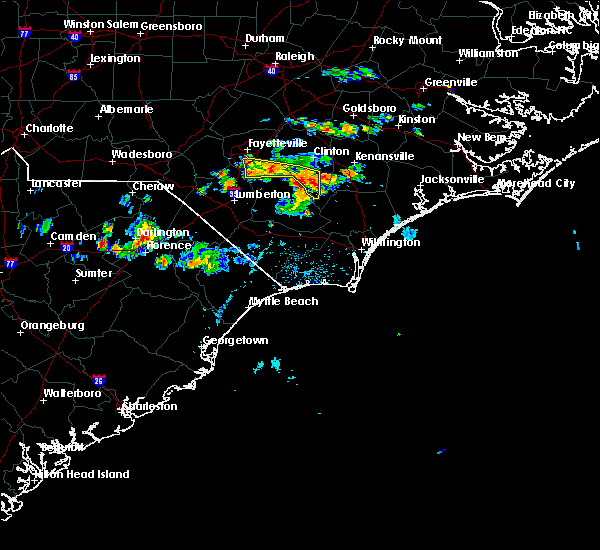 Radar Image for Severe Thunderstorms near Fayetteville, NC at 6/14/2017 5:15 PM EDT