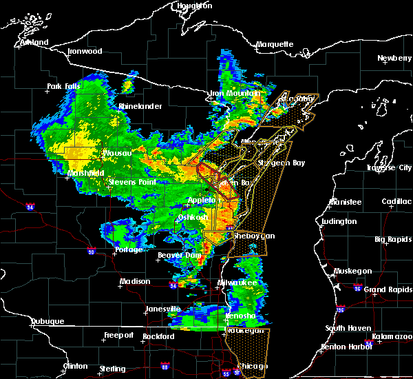 Radar Image for Severe Thunderstorms near Abrams, WI at 6/14/2017 4:19 PM CDT