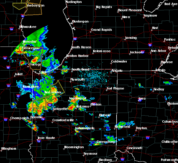 Radar Image for Severe Thunderstorms near Monon, IN at 6/14/2017 5:27 PM EDT