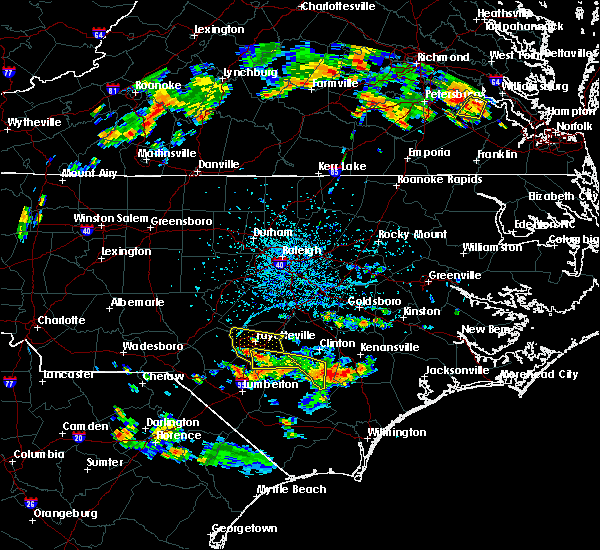 Radar Image for Severe Thunderstorms near Fayetteville, NC at 6/14/2017 5:37 PM EDT
