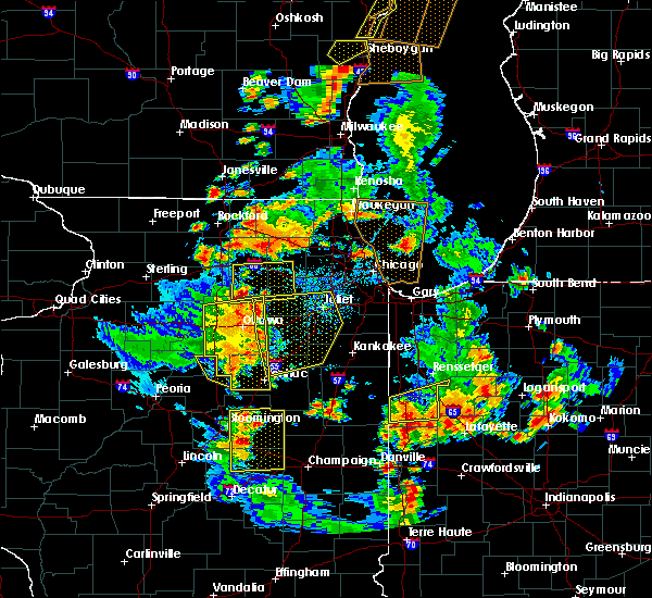 Radar Image for Severe Thunderstorms near Minooka, IL at 6/14/2017 4:44 PM CDT
