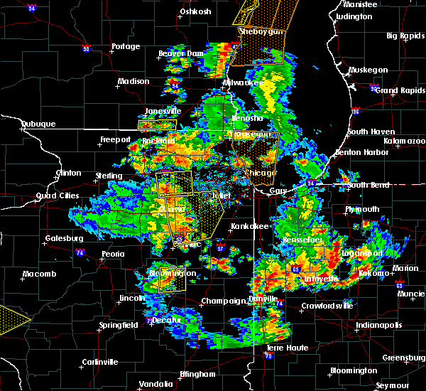 Radar Image for Severe Thunderstorms near Minooka, IL at 6/14/2017 4:57 PM CDT