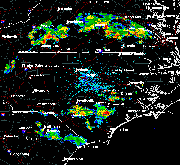 Radar Image for Severe Thunderstorms near Fayetteville, NC at 6/14/2017 6:00 PM EDT