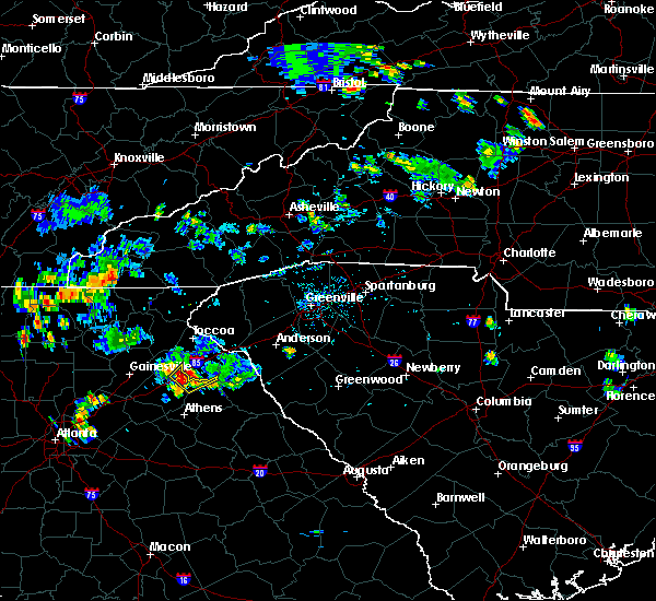 Radar Image for Severe Thunderstorms near Ila, GA at 6/14/2017 6:16 PM EDT