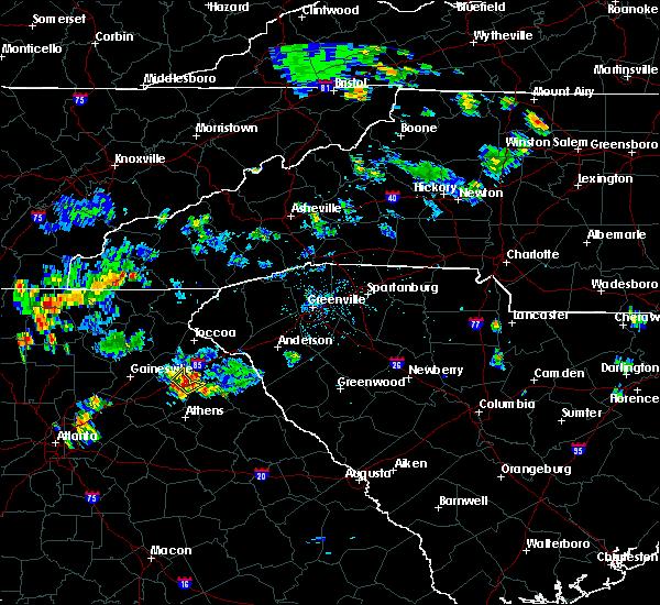 Radar Image for Severe Thunderstorms near Commerce, GA at 6/14/2017 6:28 PM EDT