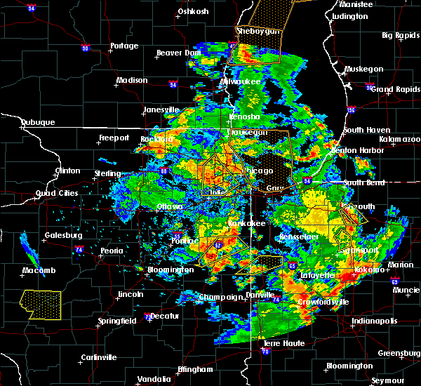 Radar Image for Severe Thunderstorms near Lisle, IL at 6/14/2017 5:38 PM CDT