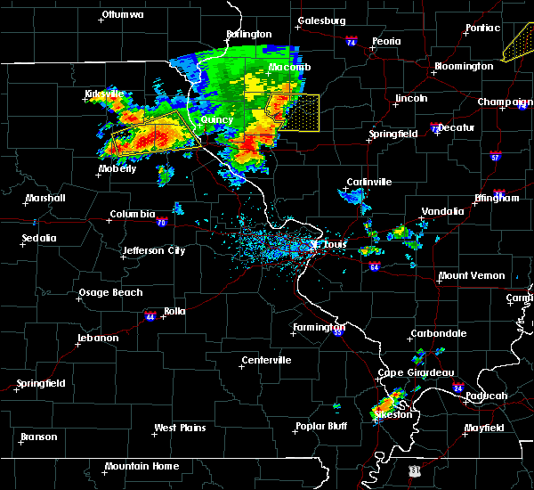 Radar Image for Severe Thunderstorms near Hannibal, MO at 6/14/2017 5:45 PM CDT