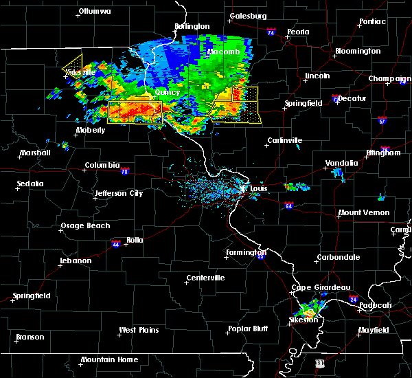 Radar Image for Severe Thunderstorms near Hannibal, MO at 6/14/2017 6:22 PM CDT