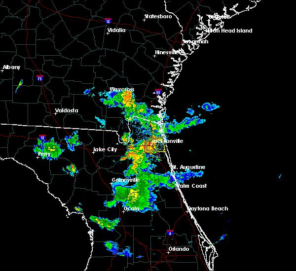 Radar Image for Severe Thunderstorms near Jacksonville, FL at 6/14/2017 7:40 PM EDT