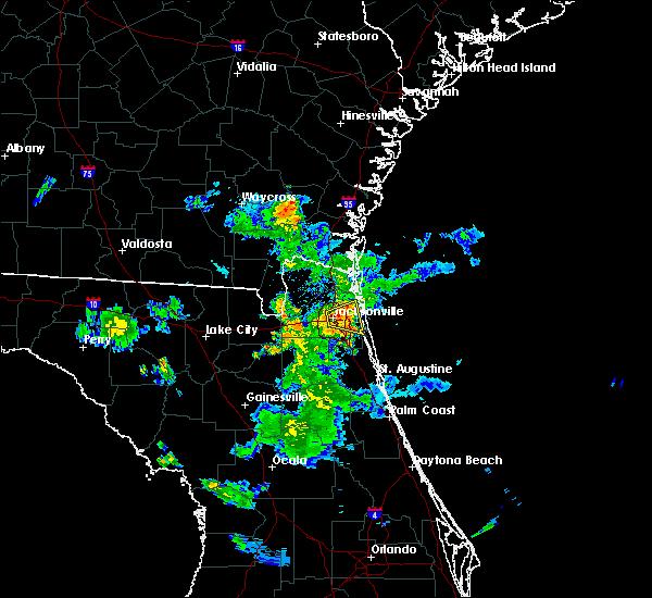 Radar Image for Severe Thunderstorms near Jacksonville, FL at 6/14/2017 7:51 PM EDT