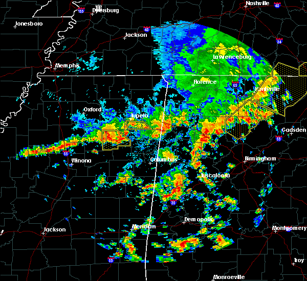 Radar Image for Severe Thunderstorms near Nettleton, MS at 6/15/2017 2:07 PM CDT