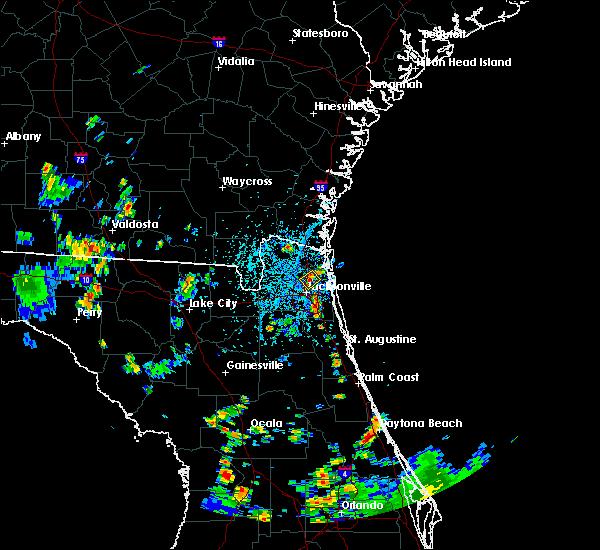 Radar Image for Severe Thunderstorms near Jacksonville, FL at 6/15/2017 3:48 PM EDT