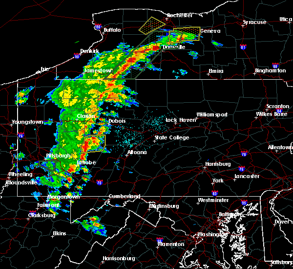 Radar Image for Severe Thunderstorms near Smicksburg, PA at 6/15/2017 5:26 PM EDT